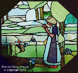 Stained Glass Art Deco 1930's (thumbnail)