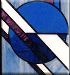 Stained Glass Art Deco Icon